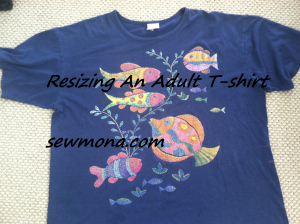 Resizing An Adult T-Shirt