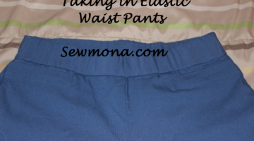 Taking in Elastic Waist Pants (or Capris or Shorts)